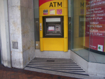 Automatic teller floor area